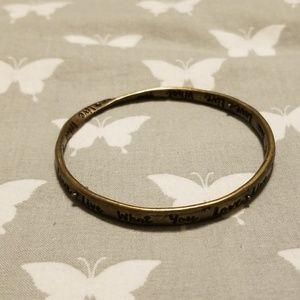 Live what you love twisty bracelet